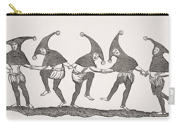 Dance Of Fools. 19th Century Carry-all Pouch