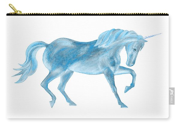 Dancing Blue Unicorn Carry-all Pouch