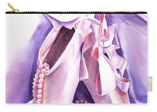Dancing Pearls Ballet Slippers  Carry-all Pouch