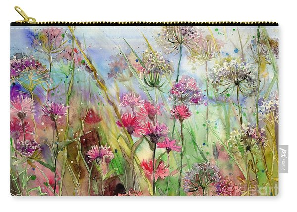 Dancing Thistles Carry-all Pouch
