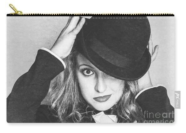 Dancing Woman Wearing Retro Theatre Hat Carry-all Pouch