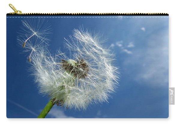 Dandelion And Blue Sky Carry-all Pouch