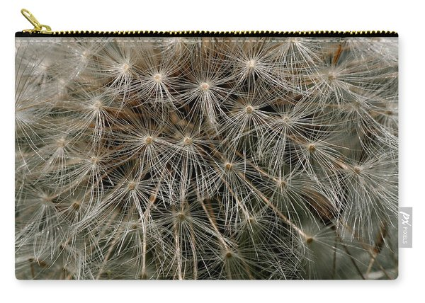 Carry-all Pouch featuring the photograph Dandelion Head by William Selander