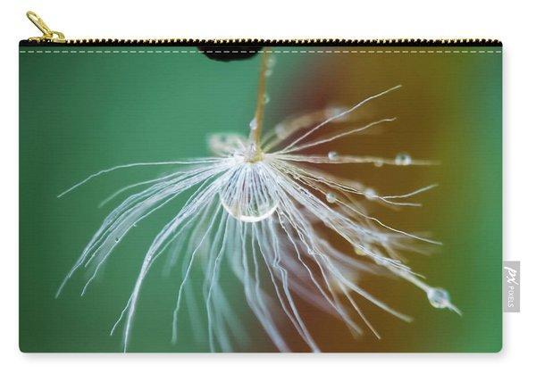 Dandelion Water Drop Macro 2 Carry-all Pouch