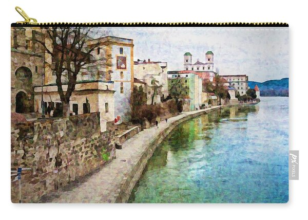 Danube River At Passau, Germany Carry-all Pouch