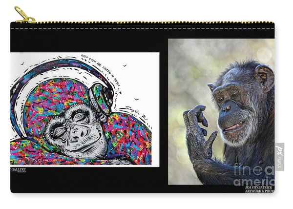 Dao's Painting And My Photograph Coming Together IIi Carry-all Pouch