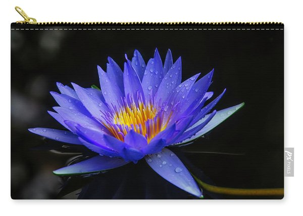 Dark Blue Water Lily Carry-all Pouch