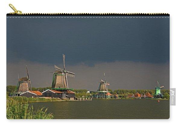 Dark Clouds Above Zaanse Schans Carry-all Pouch