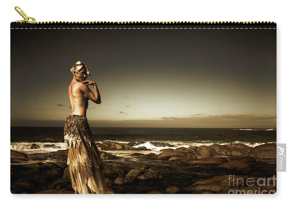 Dark Dramatic Fine Art Beauty Carry-all Pouch