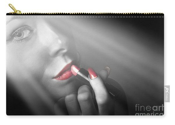 Dark Fashion And Make Up Beauty Carry-all Pouch