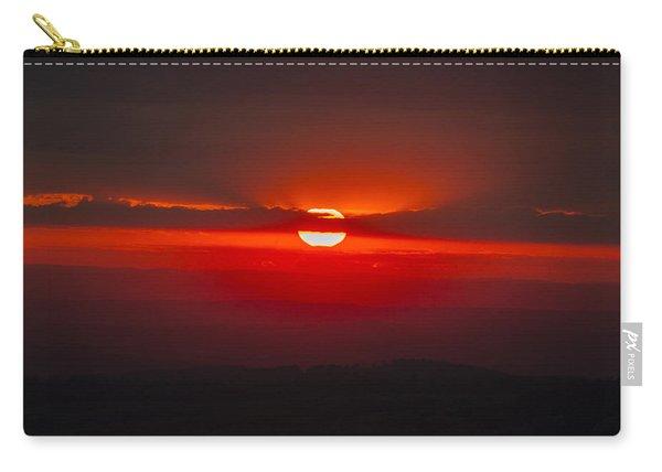 Dark Red Sun In Vogelsberg Carry-all Pouch