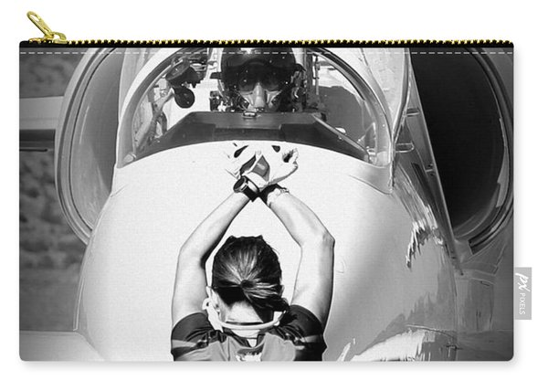 Carry-all Pouch featuring the photograph Darkstar II Taxis In Signature Edition by John King