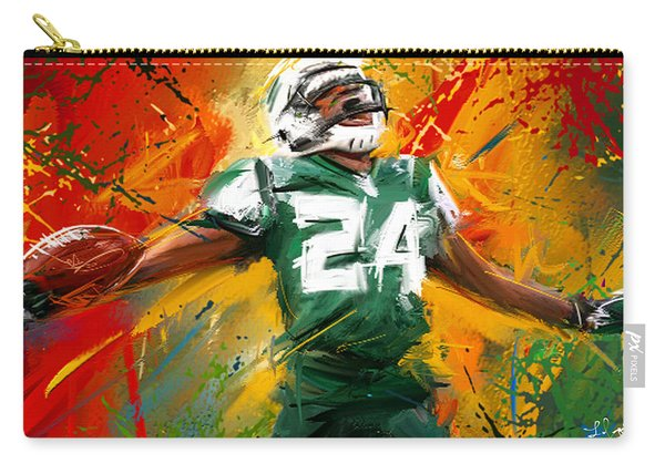 Darrelle Revis Colorful Portrait Carry-all Pouch