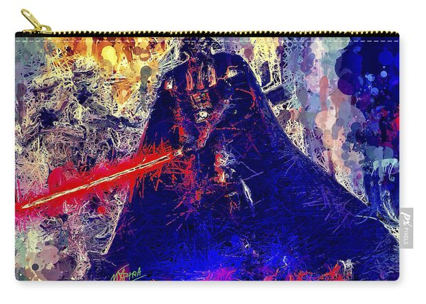 Carry-all Pouch featuring the mixed media Darth Vader by Al Matra