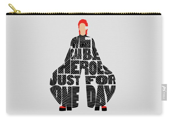 David Bowie Typography Art Carry-all Pouch