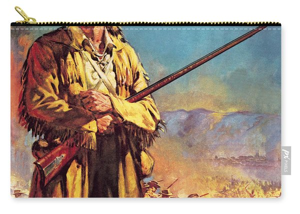 Davy Crockett  Hero Of The Alamo Carry-all Pouch