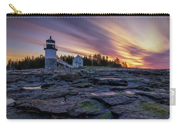 Dawn Breaking At Marshall Point Lighthouse Carry-all Pouch