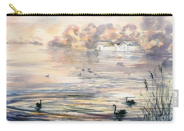 Carry-all Pouch featuring the painting Dawn At Lake Wendouree by Ryn Shell
