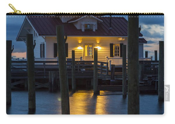 Dawn At Roanoke Marshes Lighthouse Carry-all Pouch