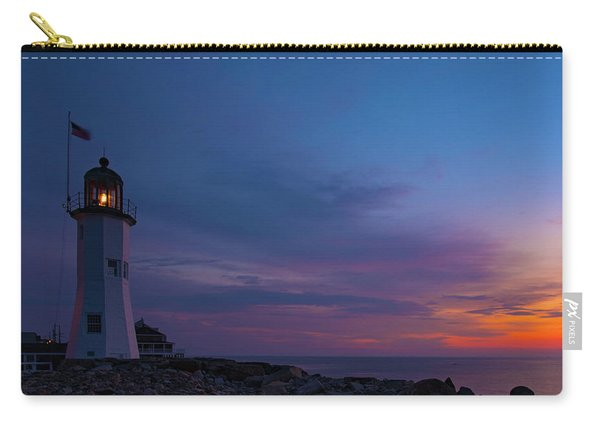 Dawn At Scituate Light Carry-all Pouch