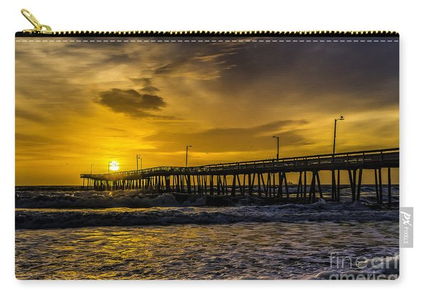 Dawn At The Virginia Pier Carry-all Pouch