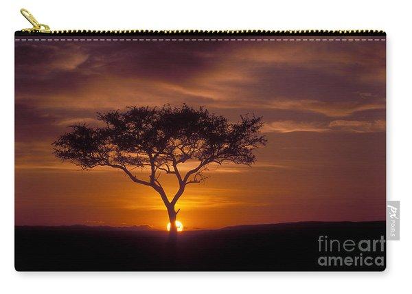 Dawn On The Masai Mara Carry-all Pouch