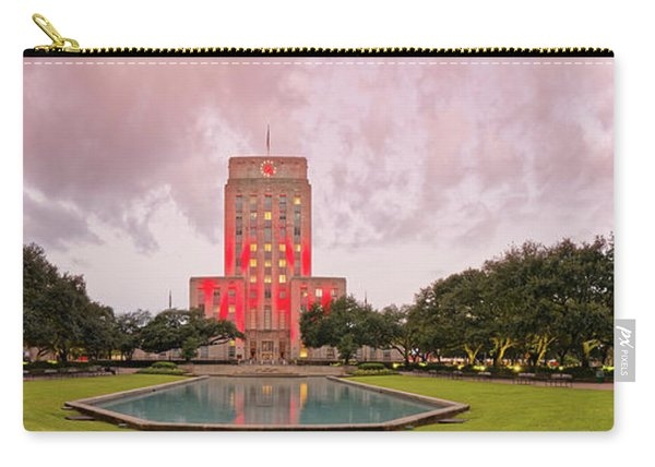 Dawn Panorama Of Houston City Hall At Hermann Square - Downtown Houston Harris County Carry-all Pouch