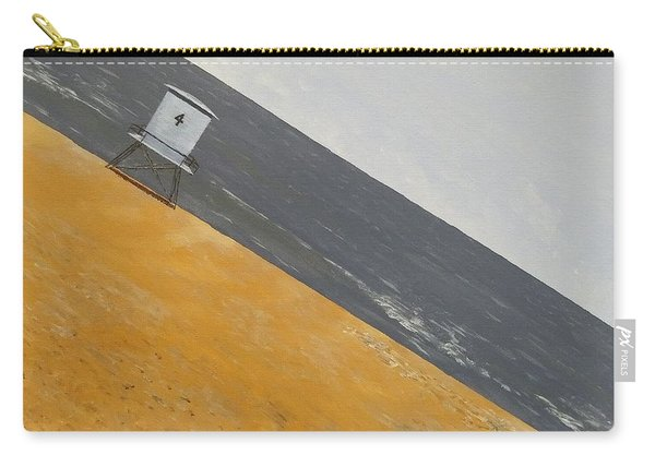 Carry-all Pouch featuring the painting Day At The Beach by Kevin Daly