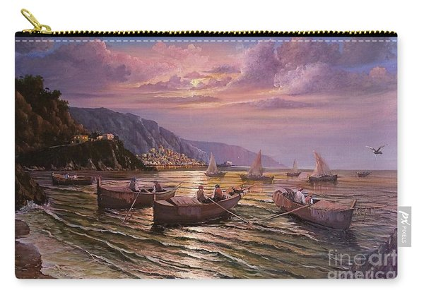 Day Ends On The Amalfi Coast Carry-all Pouch