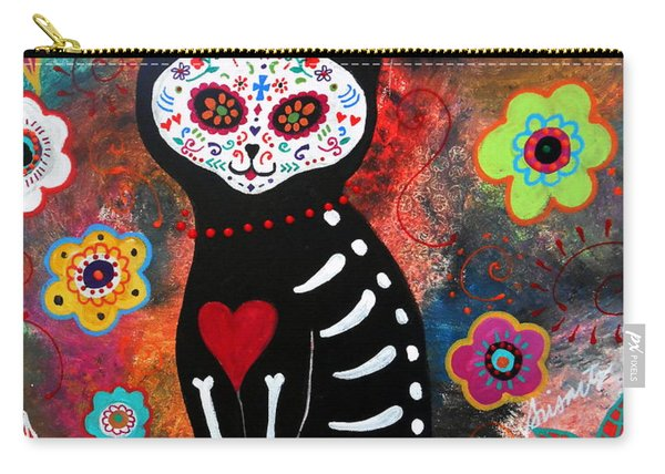 Day Of The Dead Cat El Gato Carry-all Pouch