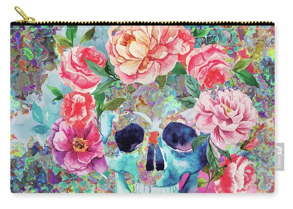 Day Of The Dead Watercolor Carry-all Pouch