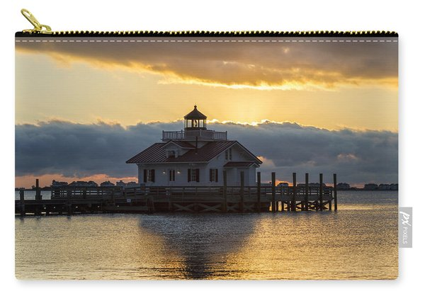Daybreak Over Roanoke Marshes Lighthouse Carry-all Pouch