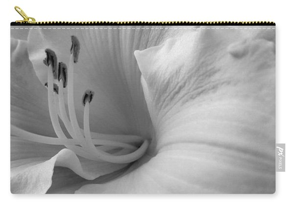 Daylily Delight In Black And White Carry-all Pouch