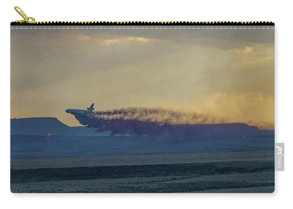 Carry-all Pouch featuring the photograph Dc-10's First Retardant Drop In South Dakota by Bill Gabbert