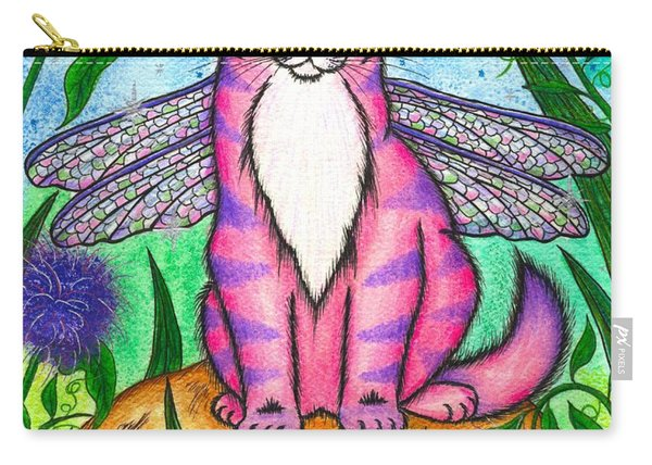 Dea Dragonfly Fairy Cat Carry-all Pouch
