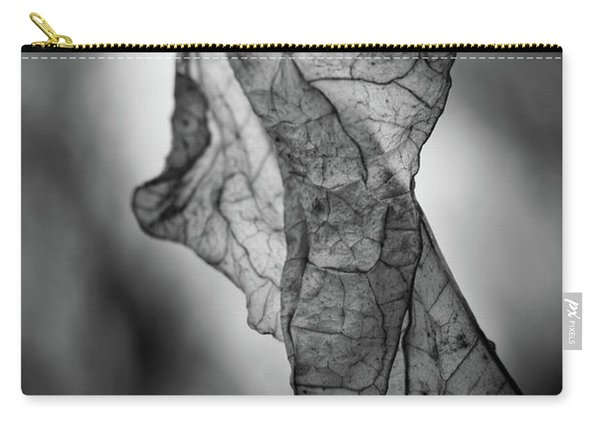 Fragile Leaf Bw Carry-all Pouch