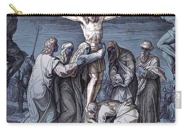 Death Of Jesus On The Cross, Gospel Of John Carry-all Pouch