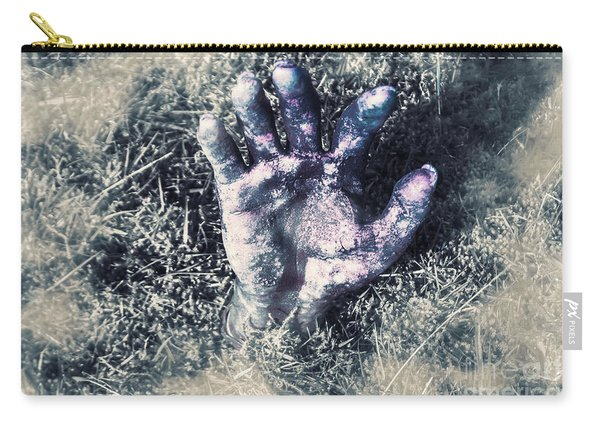 Decaying Zombie Hand Emerging From Ground Carry-all Pouch