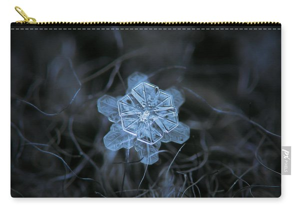 Carry-all Pouch featuring the photograph December 18 2015 - Snowflake 2 by Alexey Kljatov