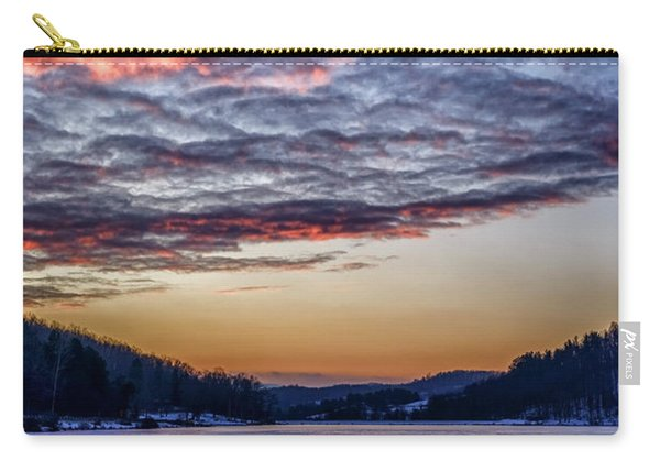 December Dawn On The Lake Carry-all Pouch