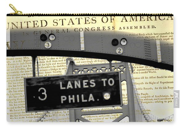 Declaration Of Independence Ben Franklin Bridge Carry-all Pouch