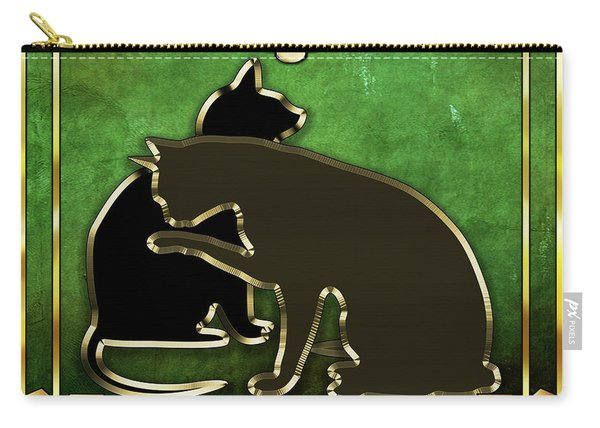 Deco Cats - Emerald Carry-all Pouch