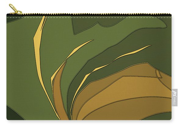 Carry-all Pouch featuring the digital art Deco Tile by Gina Harrison