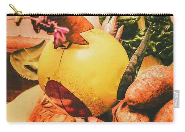 Decorated Organic Vegetables Carry-all Pouch
