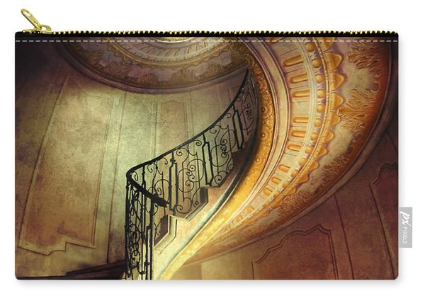 Carry-all Pouch featuring the photograph Decorated Spiral Staircase  by Jaroslaw Blaminsky