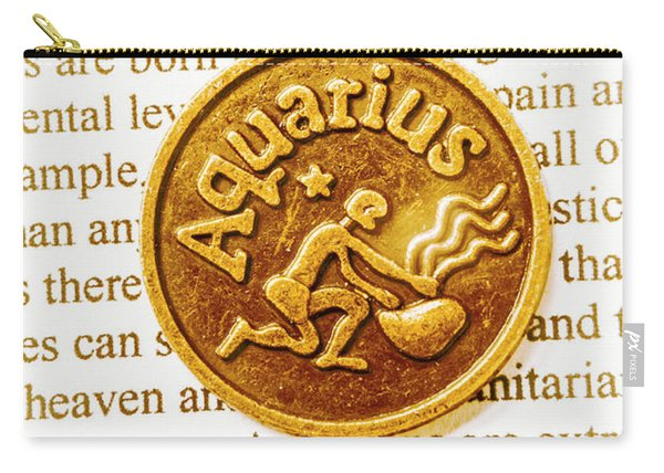 Decorative Aquarius Carry-all Pouch