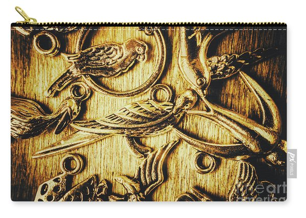 Decorative Bird Charms Carry-all Pouch