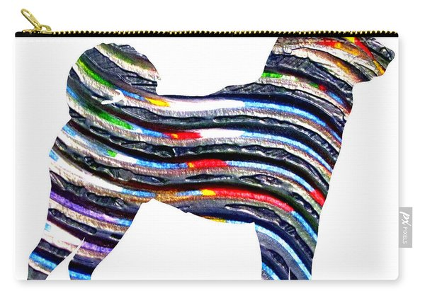 Decorative Husky Abstract O1015b Carry-all Pouch
