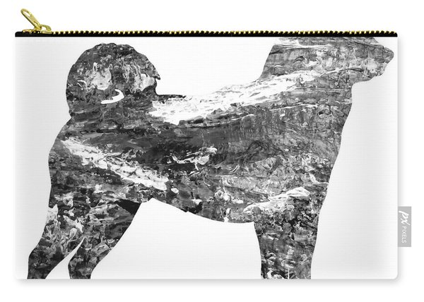 Decorative Husky Abstract O1015j Carry-all Pouch