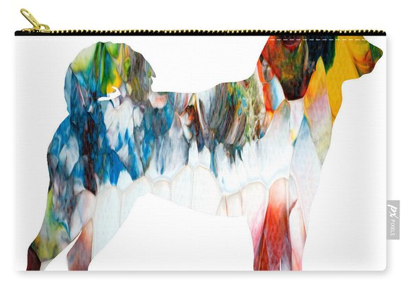 Decorative Husky Abstract O1015l Carry-all Pouch